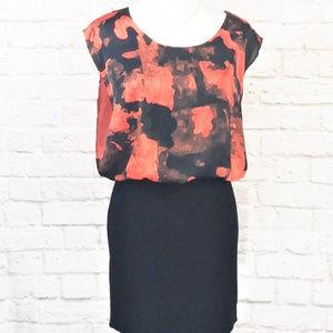 Marc New York abstract floral chiffon dress.  EUC.
